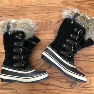 Sorel waterproof tall fur boots